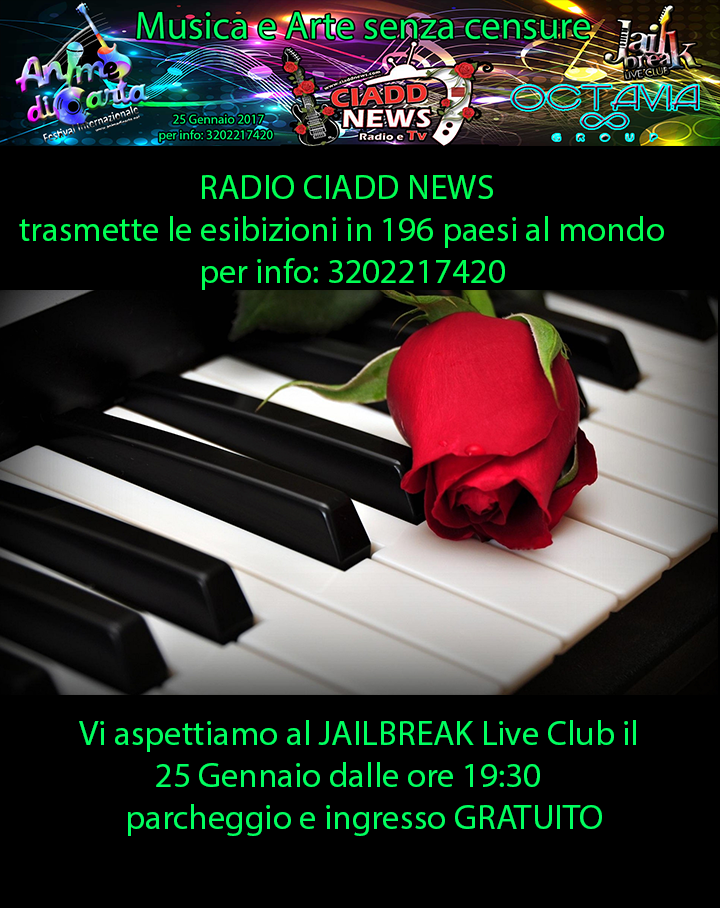 "25 Gennaio - Rassegna ""Musica e Arte senza censure"" al Jailbreak"