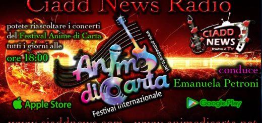 In RADIO :) 21 Giugno 2019 - Festival ANIME di CARTA presentato da Emanuela Petroni al Boogie Club