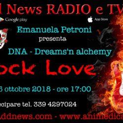 """La direttrice artistica Emanuela Petroni presenta DNA - DREAMS'N ALCHEMY su """"Ciadd News RADIO e TV"""" nella trasmissione ROCK LOVE"""