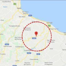 Scossa di terremoto in Molise Prima valutazione: magnitudo 4.7