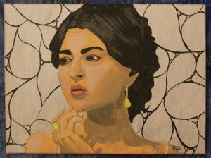 """""""Donna del Sud"""", acrilico su tela, cm 30 x 40"""