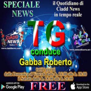 Gio. 21/7/16 TG CIADD NEWS …. CONDUCE .… GABBA ROBERTO