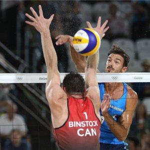 Beach volley: Carambula-Ranghieri avanti, pure il Canada ko