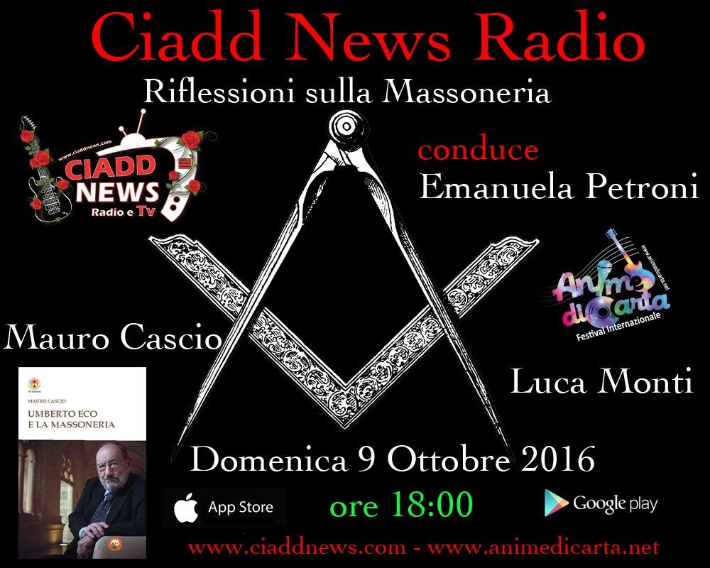 RIFLESSIONI SULLA MASSONERIA - conduce Emanuela Petroni - Luca Monti e Mauro Cascio