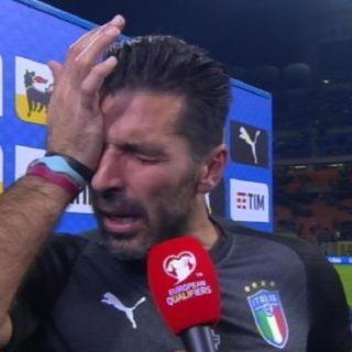 ITALIA NON QUALIFICATA: lacrime di Buffon