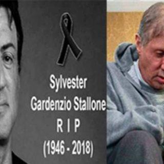 Sylvester Stallone è morto, foto choc. Ma è una fake news