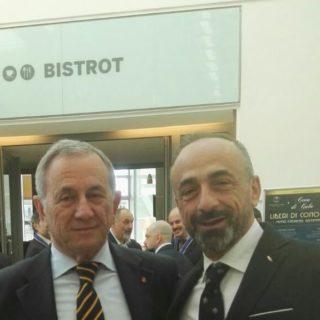 PAOLO BATTAGLIA LA TERRA BORGESE CON LEO TARONI, VERTICE DEL R.S.A.A. DELLA MASSONERIA EUROPEA