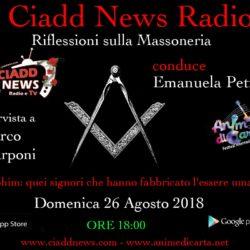 N° 40 – RIFL. SULLA MASSONERIA – conduce Emanuela Petroni – Ospiti: – Marco Scarponi