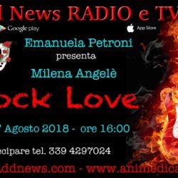 """La direttrice artistica Emanuela Petroni presenta MILENA ANGELE' su """"Ciadd News RADIO e TV"""" nella trasmissione ROCK LOVE"""