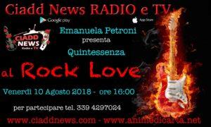 """La direttrice artistica Emanuela Petroni present MADNESS AT HOME su """"Ciadd News RADIO e TV"""" nella trasmissione ROCK LOVE"""