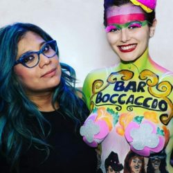 "EMANUELA PETRONI presenta KARINA Y MUZZIO Make up artist face and body painter sul RED CARPET del Jailbreak al Festival internazionale ""ANIME di CARTA"" x ""MISS CINEMA 2018"" - Moda, Concerti e Danza Orientale"