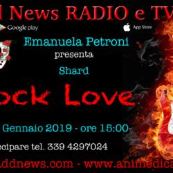 """La direttrice artistica Emanuela Petroni presenta SHARD su """"Ciadd News RADIO e TV"""" nella trasmissione ROCK LOVE"""