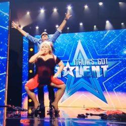 Burlesque Curvy con Emanuela Petroni ad Italia's Got Talent con CLAUDIO BISIO
