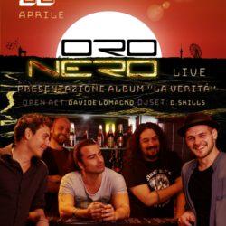 Venerdì 12 Aprile gli ORO NERO presentano il loro nuovo disco rock al PLANET di Roma