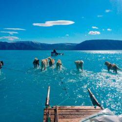 Il caldo record sta letteralmente sciogliendo la Groenlandia