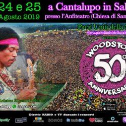 A Cantalupo in Sabina Concerti per il 50° anniversario di Woodstock - presentato da Emanuela Petroni