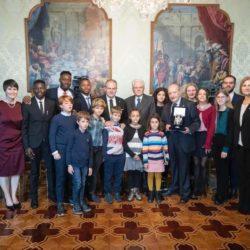 MICHELE AFFIDATO - UNICEF - INCONTRO CON IL PRESIDENTE DELLA REPUBBLICA SERGIO MATTARELLA