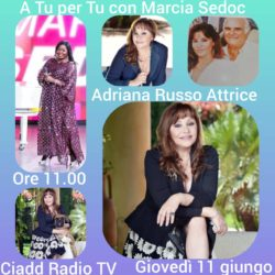 A TU per TU con Marcia Sedoc Adriana Russo Attrice