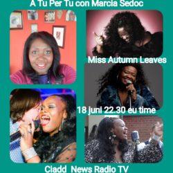 A TU per TU con Marcia Sedoc e Miss Autumn Leaves Singer da Amsterdam