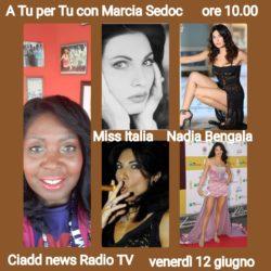 A TU per TU con Marcia Sedoc e Nadia Bengala Attrice presentatrice