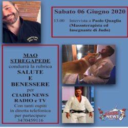 Salute e Benessere con Mao Stregapede e Paolo Quaglia Massoterapista ed Insegnante di Judo
