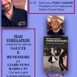 Salute e Benessere conduce Mao Stregapede - Walter Santinelli PRESIDENTE FITD
