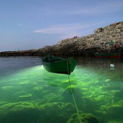Polignano effetto notte: il mare s'illumina di smeraldo Galleria fotografica