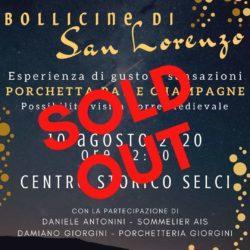 Bollicine di San Lorenzo SOLD OUT a Selci - Report a cura di Paesi Uniti della Sabina - Ciadd News RADIO e TV