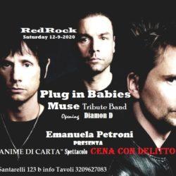 MUSE tribute + Daimon D. + Cena con Delitto Rock al RedRock con Emanuela Petroni e ANIME di CARTA