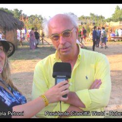 Emanuela  Petroni presenta in TV su Canale Italia 11 ROBERTO BOSI presidente di CINECITTÀ WORLD e ROMA WORLD