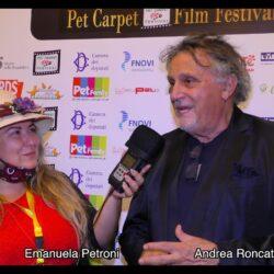 ANDREA RONCATO intervistato da Emanuela Petroni in TV su Canale Italia 11 per Pet Carpet Film Festival