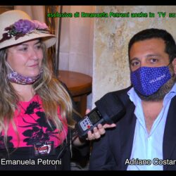 Emanuela Petroni presenta in TV su Canale Italia 11 ADRIANO COSTANTINO proprietario del locale Re degli Amici di Roma