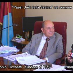 Emanuela Petroni presenta il Sindaco di Rieti ANTONIO CICCHETTI in TV su Canale Italia 11