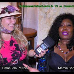 """Emanuela Petroni presenta in TV su Canale Italia 11 MARCIA SEDOC delle CACAO MERAVIGLIAO - """"Un volto x Fotomodella"""" a Piazza di Spagna"""