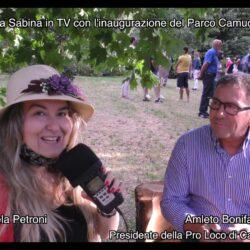 Emanuela Petroni presenta in TV su Canale Italia 11 AMLETO BONIFAZI Presidente della ProLoco di CANTALUPO in SABINA in provincia di RIETI