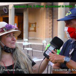 Emanuela Petroni presenta il Presidente della Protezione Civile ARVALIA del 3° Municipio di Roma Capitale in TV su Canale Italia 11