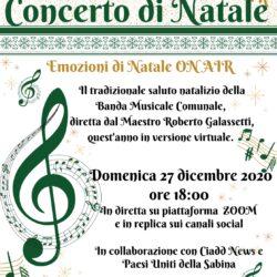 Il tradizionale saluto natalizio della Banda Musicale Comune, diretta dal Maestro Roberto Galassetti - Selci - 27 Dicembre - Emozioni di Natale On Air