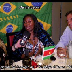 Emanuela Petroni con Maurizio Esposito Vice Presidente del Consiglio 1°Municipio Roma e Marcia Sedoc