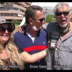 Emanuela Petorni con Enzo Salvi e Maurizio Mattioli #iononliabbandono - Pet Carpet Film Festival