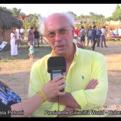 Emanuela Petroni intervista il Presidente di Cinecittà Wolrd - Roberto Bosi - Ciadd News Radio e TV