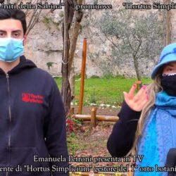 In TV su CANALE ITALIA 11 EMANUELA PETRONI presenta il Presidente di HORTUS SIMPLICIUM medievale di Rieti FABIANO ERMINI