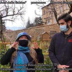 In TV su CANALE ITALIA 11 EMANUELA PETRONI presenta GIOVANNI FRANCESCHINI Vicepresidente di HORTUS SIMPLICIUM medievale di Rieti