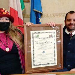 In TV su CANALE ITALIA 11 EMANUELA PETRONI presenta il Presidente della Provincia di Rieti MARIANO CALISSE