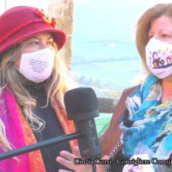 Emanuela Petroni presenta in TV su CANALE ITALIA 11 Cinzia Corsi consigliere del comune di Stimigliano (Rieti)