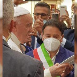 Giuseppe Capparelli consigliere del Comune di Altomonte incontra Papa Francesco